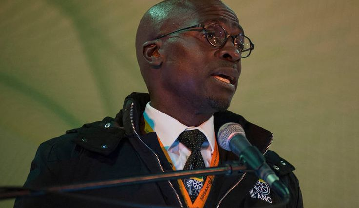 Photo: Finance Minister Malusi Gigaba addresses a breakfast briefing at the ANC's 5th National Policy Conference, Johannesburg 2017. Photo: Ihsaan Haffejee