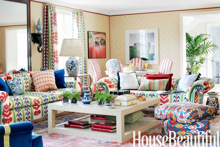 ikat red and white curtains | The Glam Pad: Revisiting Ruthie Sommers