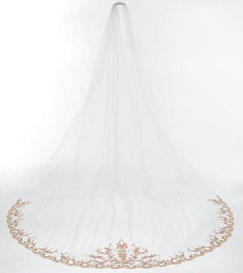 Reem Acra Veil Wedding