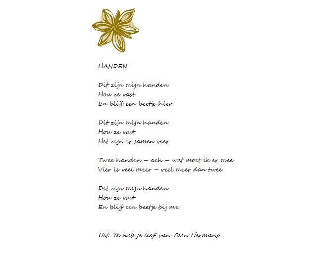 Gedicht 'Handen' van Toon Hermans