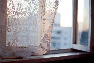 An open window. Light breeze.