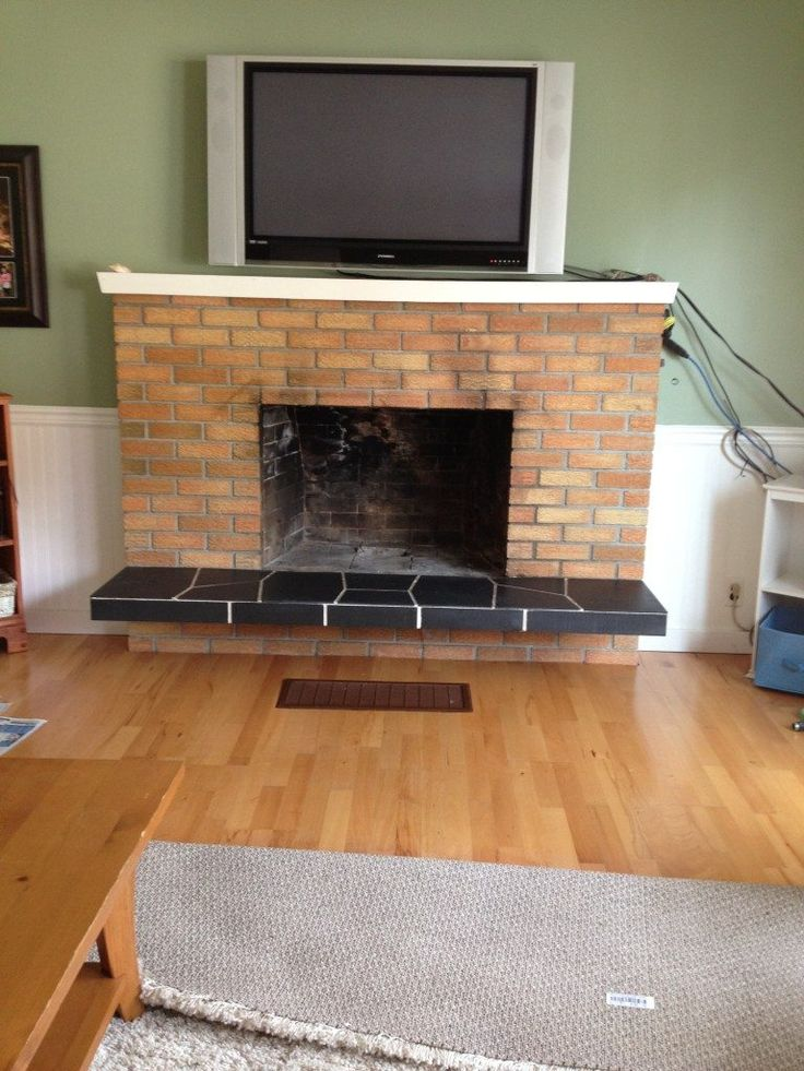 how to update brick fireplace by painting