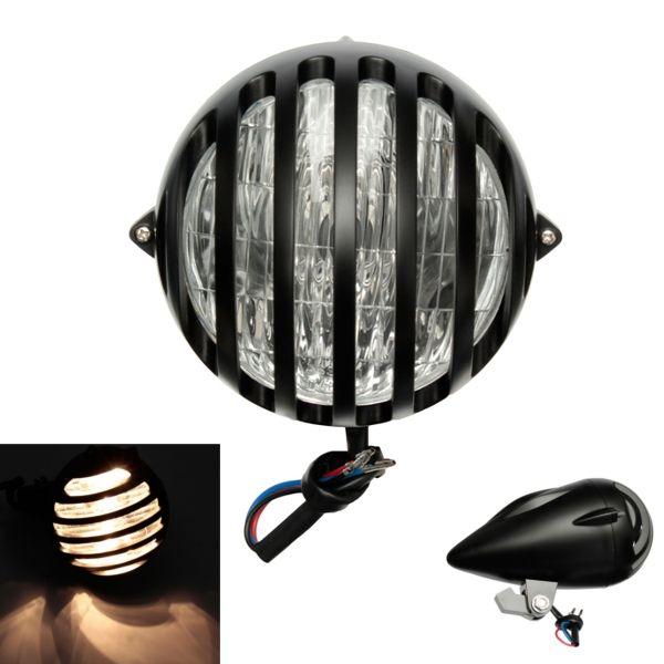 35W H4 Motorcycle Bullet Halogen Custom Headlight For Harley
