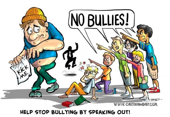 I loathe bullies of all types.  If anyone has less power than you or is smaller or more vulnerable than you be kind.