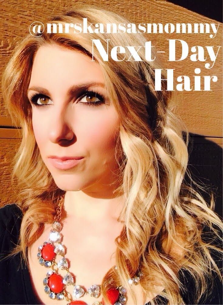 Next Day / Day After Hair: Simple way to get volume and beachwaves without looking messy.