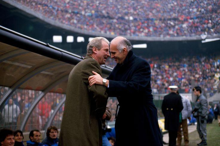 Giovanni Trapattoni et Arrigo Sacchi