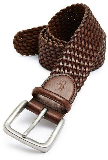 Men's Polo Ralph Lauren Braided Leather Belt