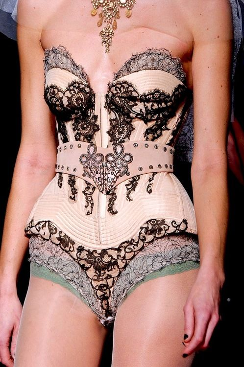 Can underwear really look this amazing? This is why some of us wear underwear as outerwear! Slip into Jean Paul Gaultier....x