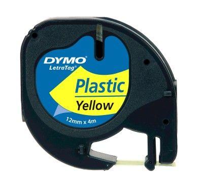 Dymo Letratag Plastik Şerit ( 12 Mm X 4 Mt ) , Sarı (59423)