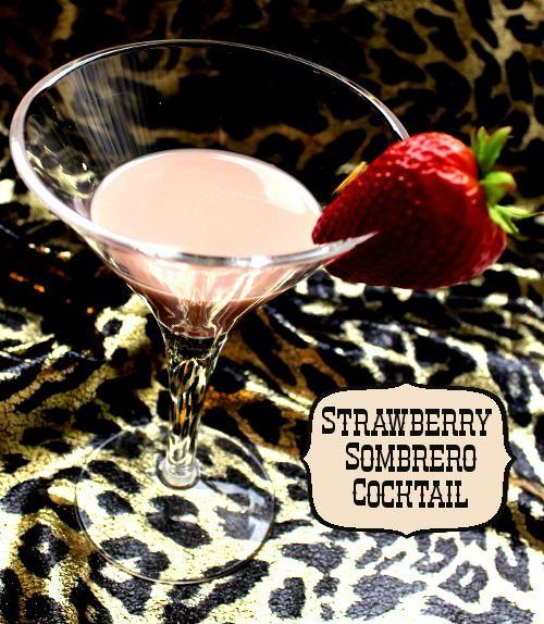 Strawberry Sombrero drink recipe - Kahlua, Strawberry Syrup, Milk
