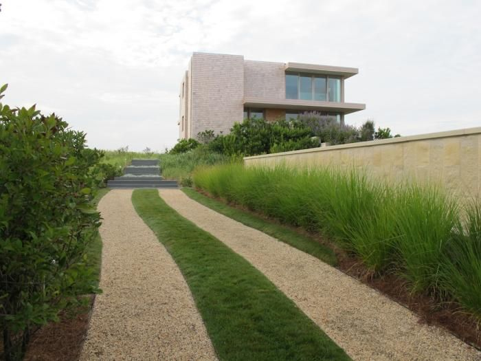 Required Reading: The Private Oasis Gardenista    Gravel and Grass Drive, Grasses, Panicum, Bayberry, Contemporary, Bluestone, Infinity Pool