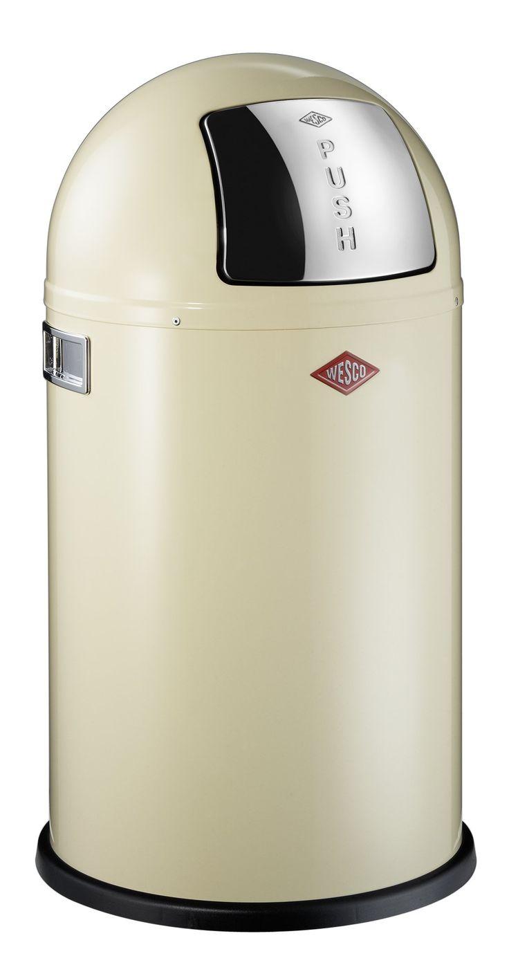 Wesco 175 531-23 Pushboy jr. - Cubo de la basura, color beige: Amazon.es: Hogar. Capacidad 22L. 83,80€.