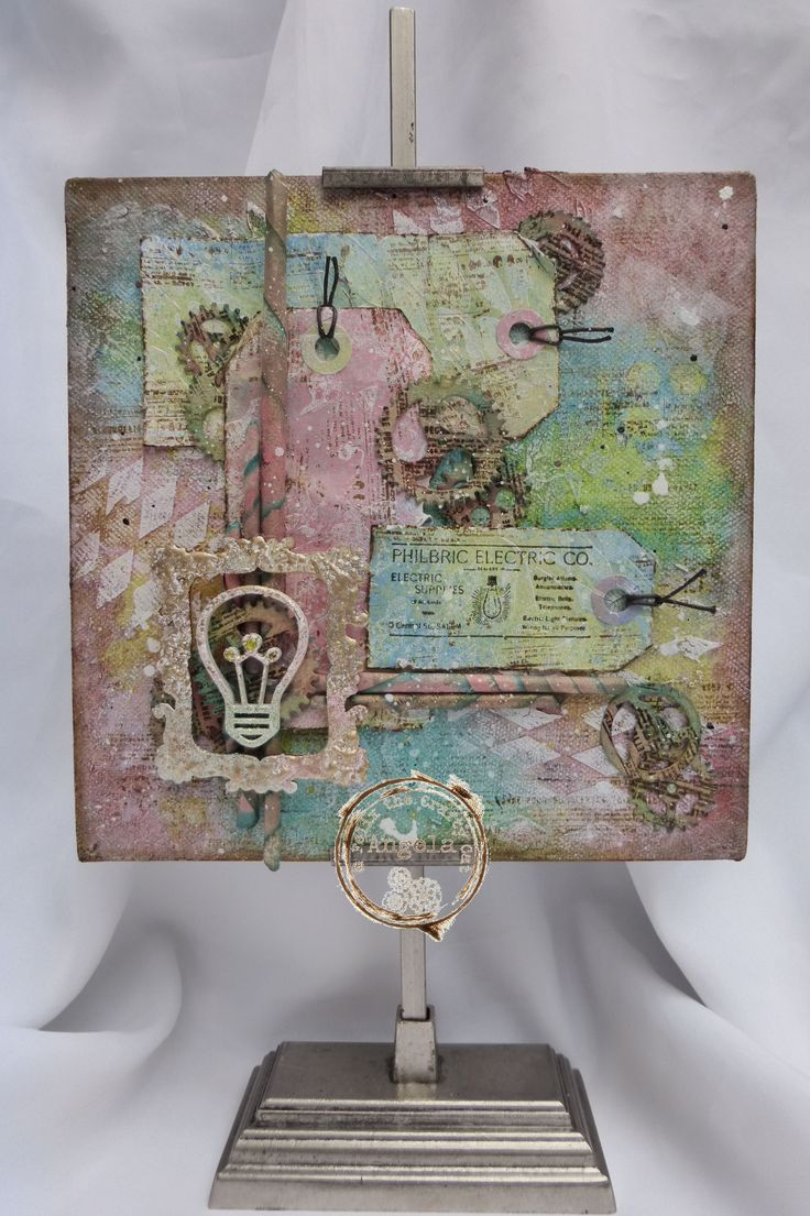 This is a Mixed Media canvas I made for The Craft Barn.