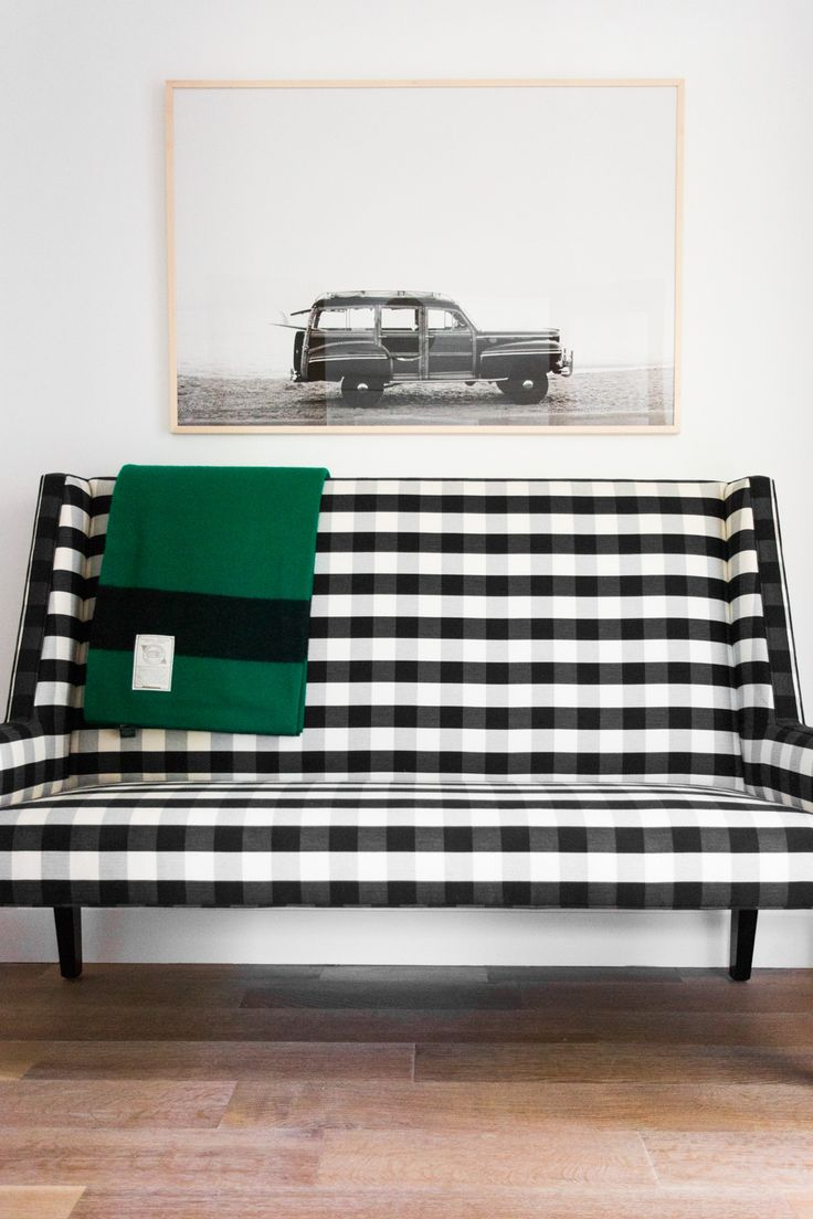 Buffalo check bench || Studio McGee