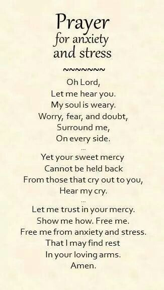 Prayer for stress/anxiety