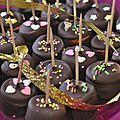 Décembre commence et avec lui la période des chocolats. Première fournée : sucette de chamallows au chocolat pour les enfants de mes amis...