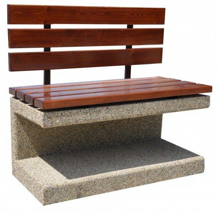 Ławka betonowa  Wysokość cakowita(cm): 95 Długość całkowita (cm): 110 Wysokość siedziska (cm): 55 Szerokość cakowita (cm): 50 Grubość listew(cm): 4 Waga około 300 kg  Grubość listew(cm): 4  Sposób przytwierdzenia do podłoża - na kostce lub asfalcie poprzez przykręcenie kołkami rozporowymi na miękkim podłożu poprzez kotwienie specjalnych prefabrykowanych fundamentach.  Duża waga ławki powoduje, że trudno ją przesunąć i nie ma potrzeby przykręcana jej do podłoża. Więcej na www.cityarch.eu