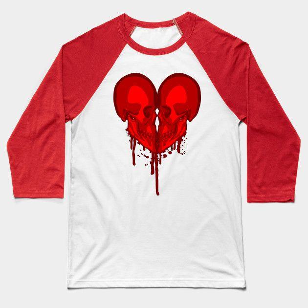 Eternal Valentine - Goth Heart - Baseball T-Shirt | TeePublic