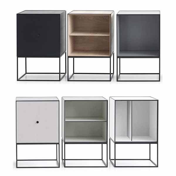 Bestel online @ SOOO.nl: de handige design dressoir kasten Frame. In zwart, wit, grijs, eikenhout en groen. Handig als nachtkastje of naast de bank.