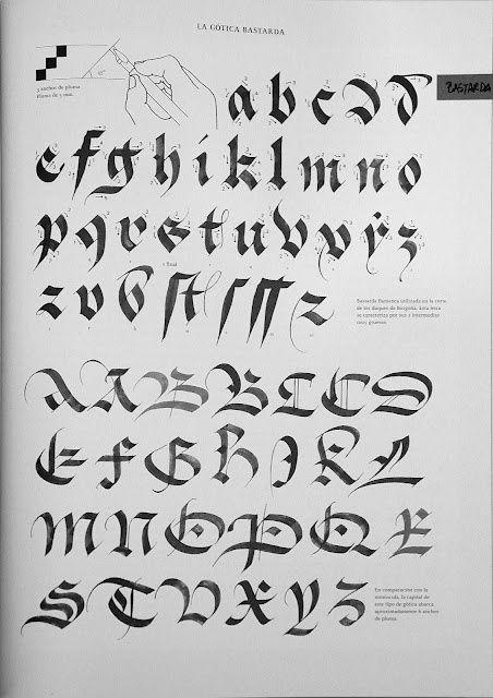caligrafia gotica bastarda - Buscar con Google