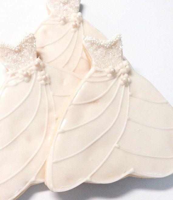 Sugar Cookie Wedding Favor Bridal Dress by SugarMeDesserterie