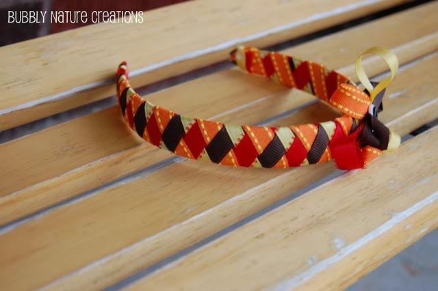 DIY Thanksgiving Headband and Ribbon Tutorial