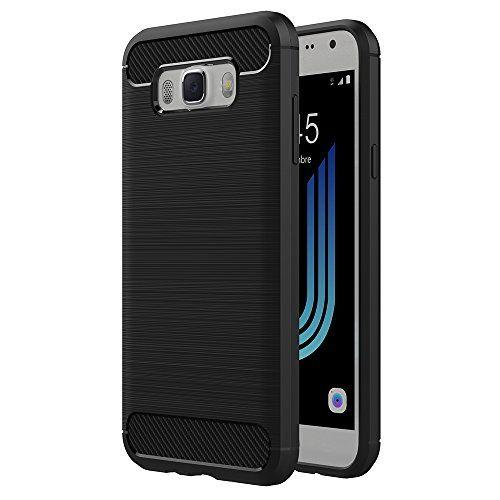 "awesome Funda Samsung Galaxy J5 2016, AICEK Samsung J5 2016 J510FN Funda Negro Gel de Silicona Galaxy J5 2016 Carcasa Fibra de Carbono Funda para Samsung J5 2016 5.2"""