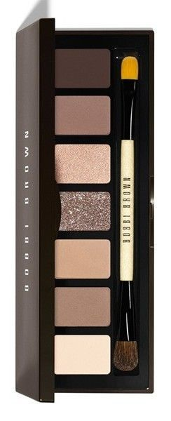 Bobbi Brown Rich Chocolate Eye Shadow Palette with Dual Ended Brush. What a gorgeous palette! Great for everyday wear and then transition to a night look. These browns are for everyone & every eye color.