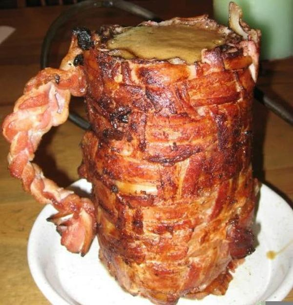 Bacon beer stein