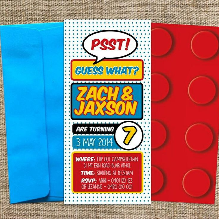 Superhero inspired boys birthday invitation