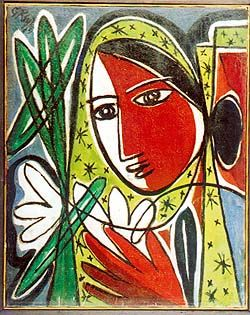 """Nayika"", 1943. George Keyt"