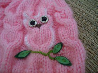 Receita de Tricô: Gorro de tricô corujinhas