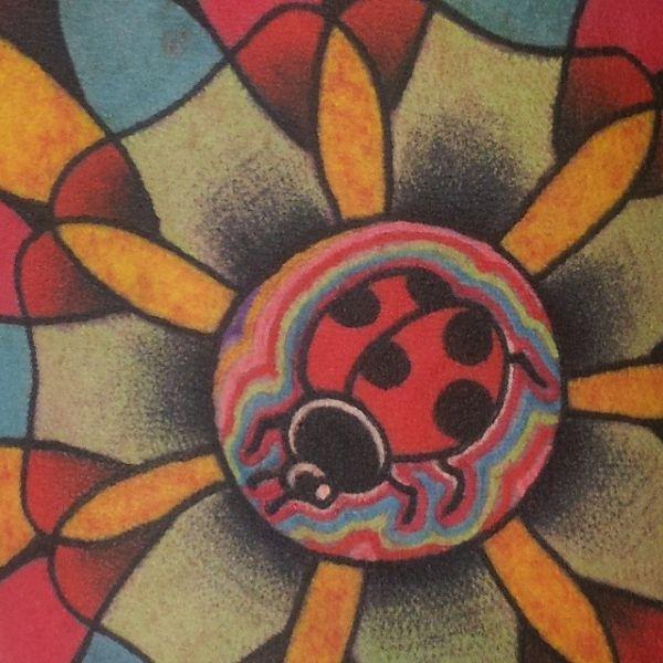 ladybug mandalas | Birmingham Tattoo Mandala Ladybug Ladybird Detail Colorful