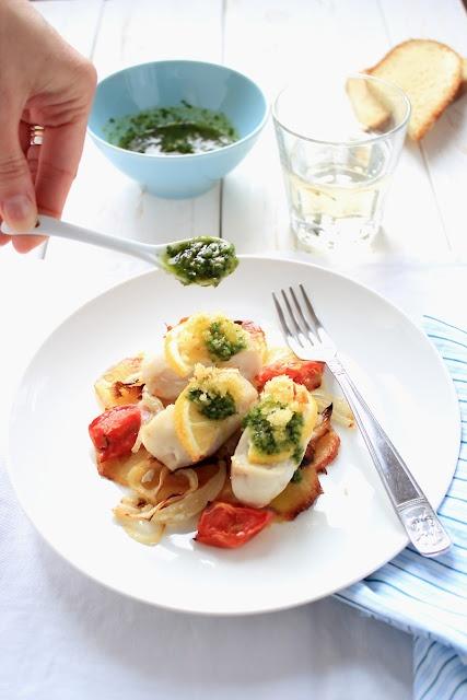 Filetti di nasello con gremolada  Fillet of hake with gremolada