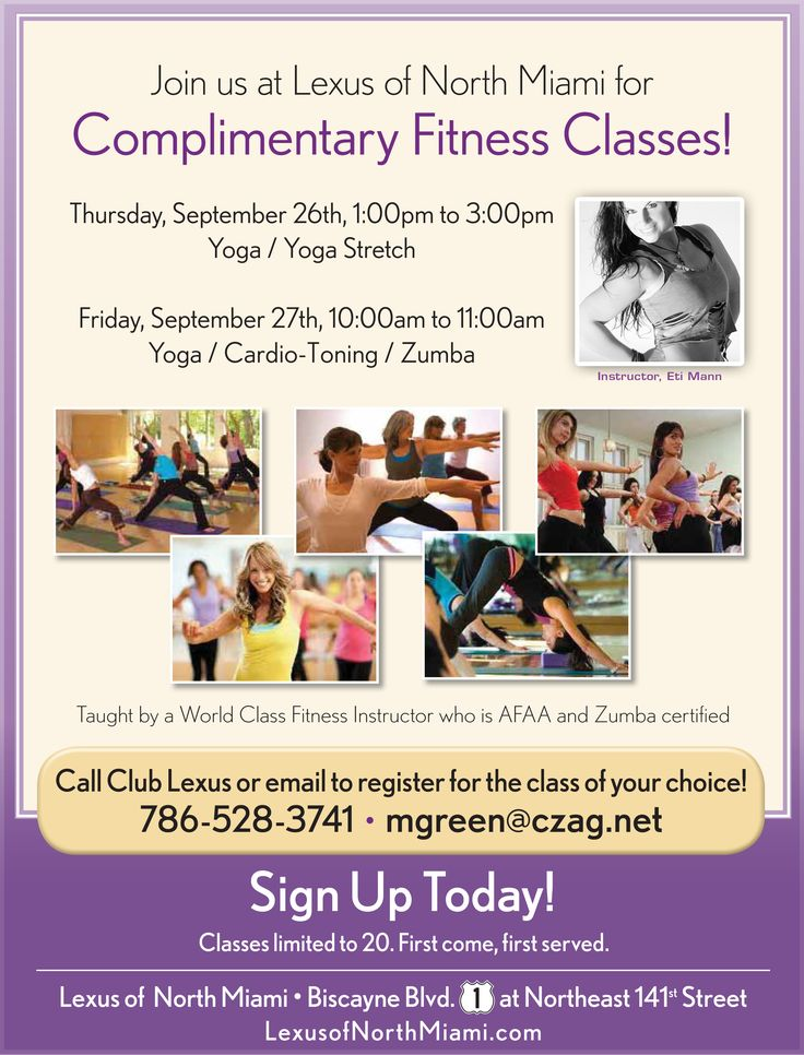 Interested in Yoga or Zumba? Join us at Lexus of