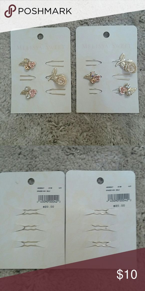 Melissa Sweet hairpins from David's Bridal Never used. Price is $15 for all. Melissa Sweet Other