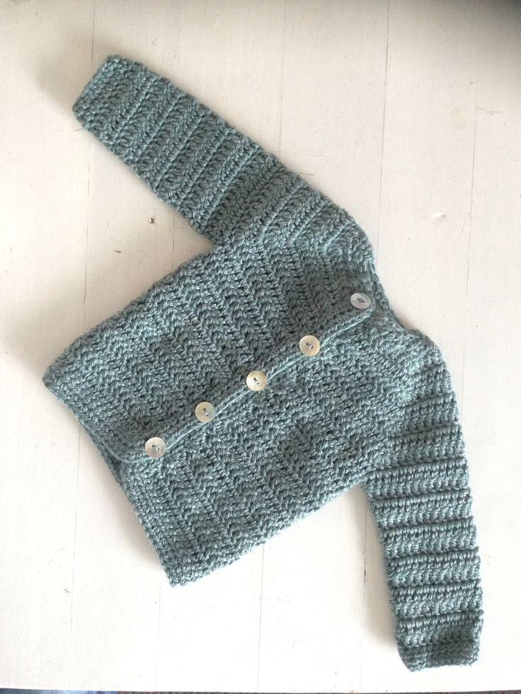 Heklet jakke 1-3 mnd / Crochet baby jacket 1-3 months #heklet #crochet