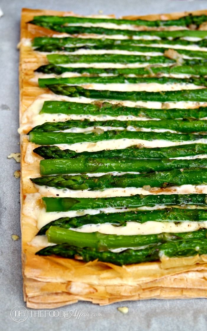 This delicious Asparagus Fontina Tart can be served as an appetizer or enjoyed as a side dish!