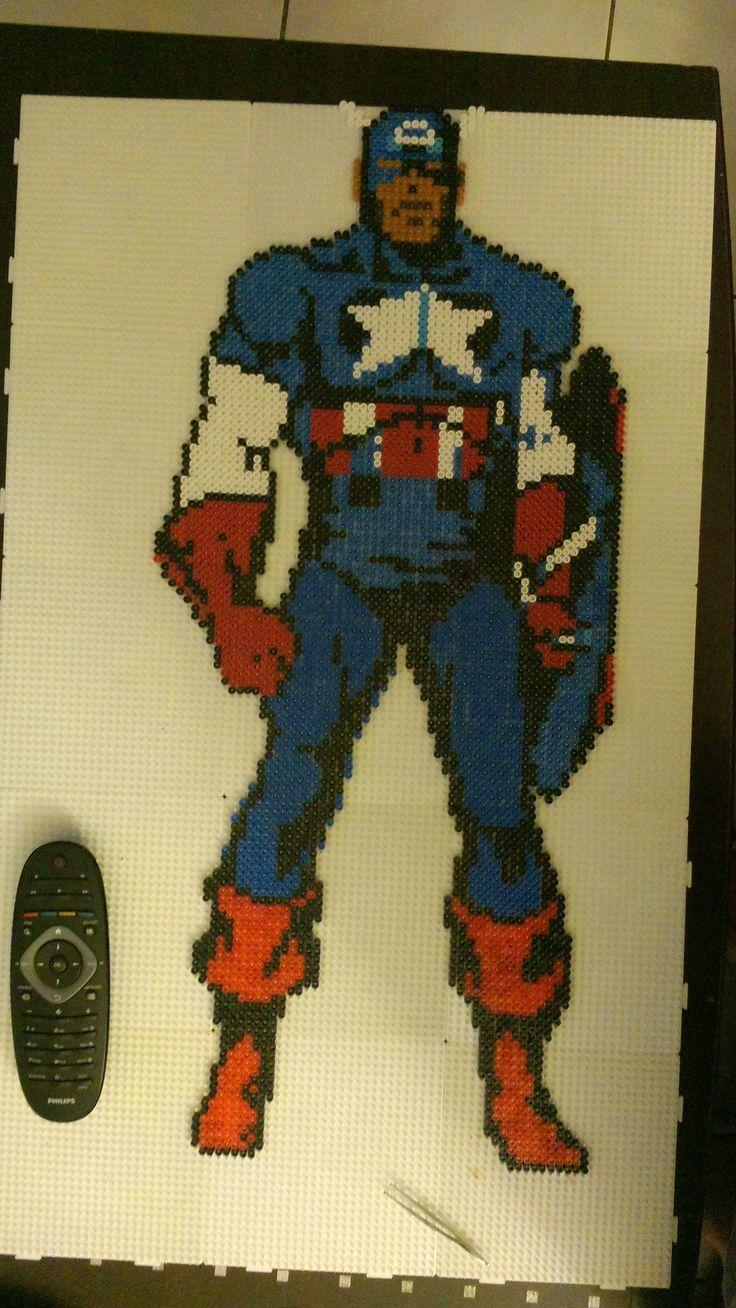 Captain America hama perler beads by starwars75