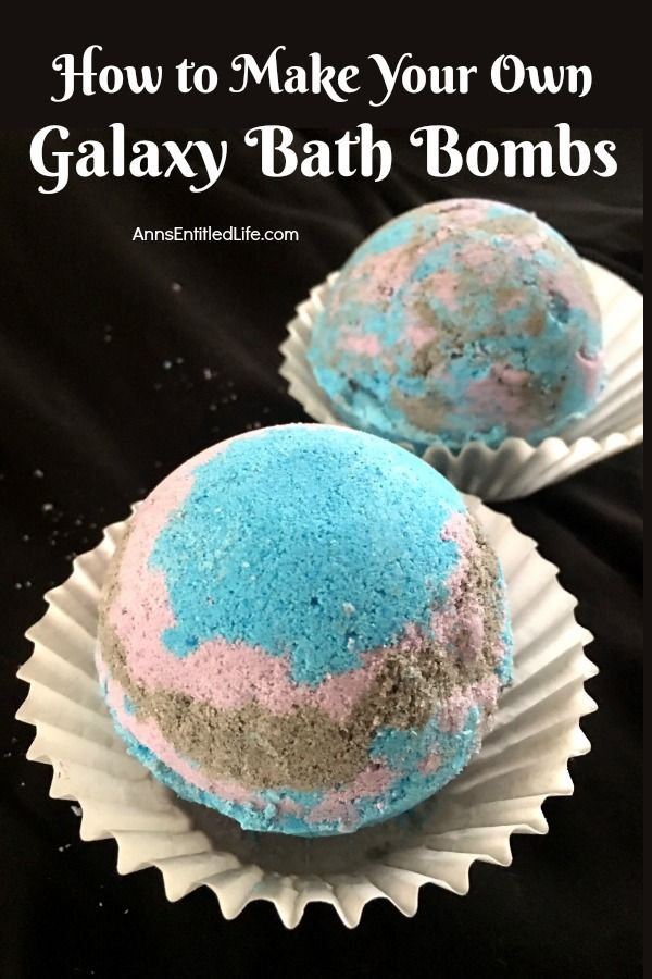 How to Make Your Own Galaxy Bath Bombs