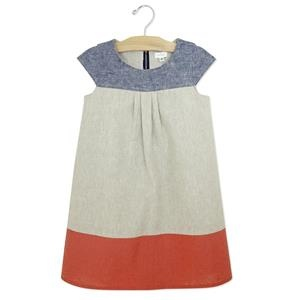 olivia dress at Neige in natural/indigo/persimmon