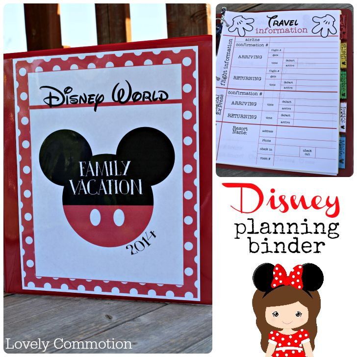 Disney planning binder - tons of great printables for planning your trip to Disney!