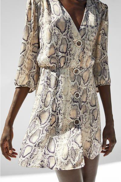 daeaee2195 SNAKESKIN PRINT MINI DRESS from Zara | Fashionista | Snake print ...