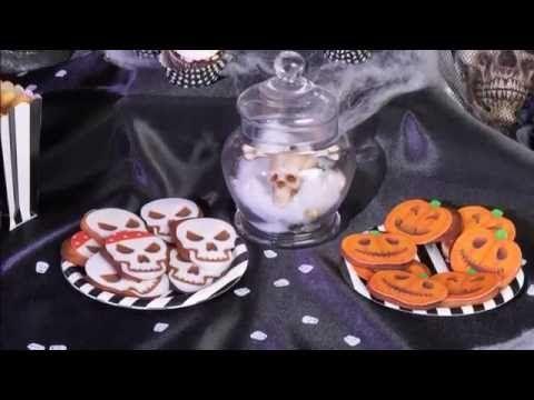 Rezept Halloween Gebäck in Schädel und Kürbis Look