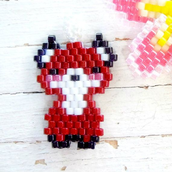 Beaded Pendant Seed Bead Charm Brick Stitch Animal by BeadCrumbs