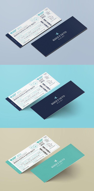 Wedding Invitation Ticket Template AI PSD 232