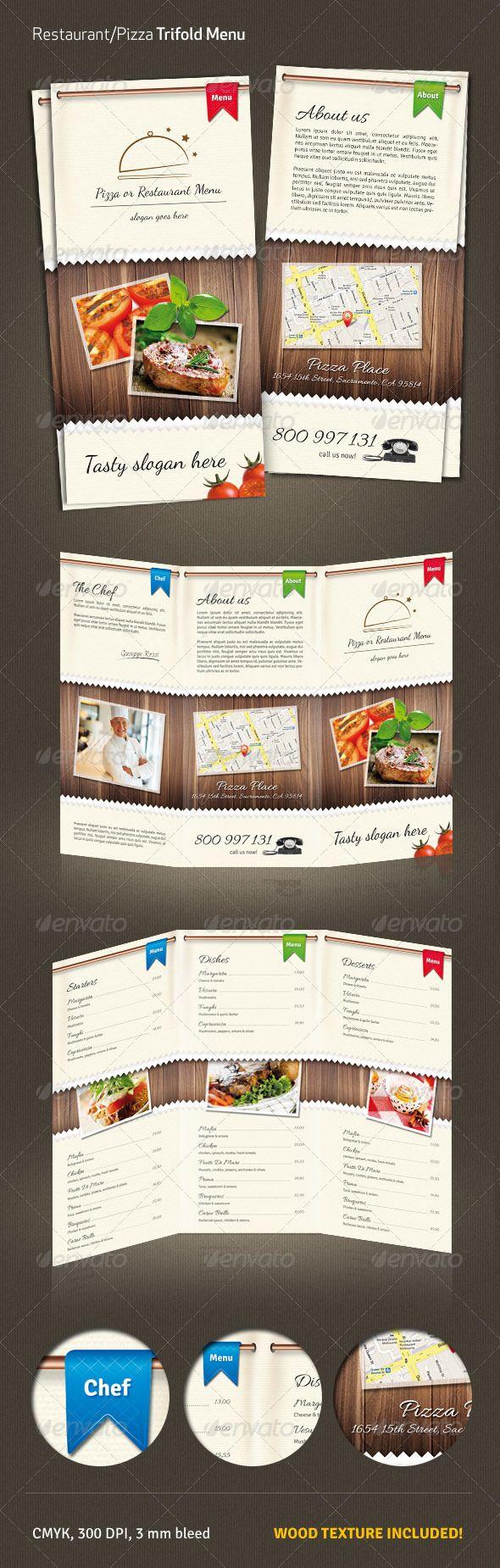 Restaurant / Pizza Menu #2