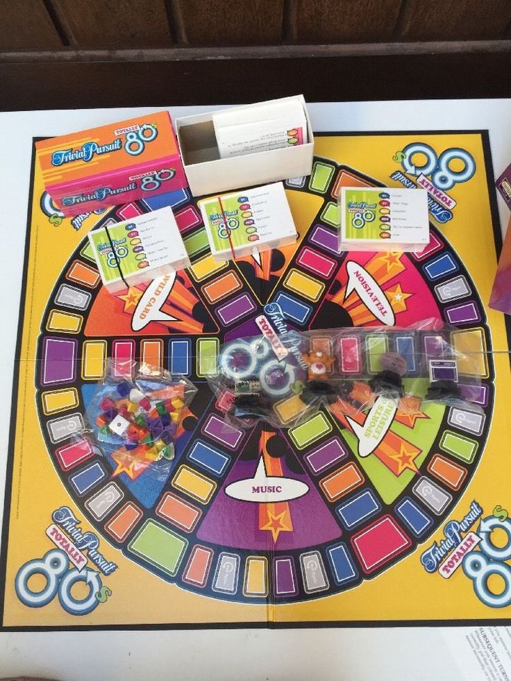 Trivial Pursuit Totally 80s Party Board Game Parker Brothers Factory Sealed Part    eBay