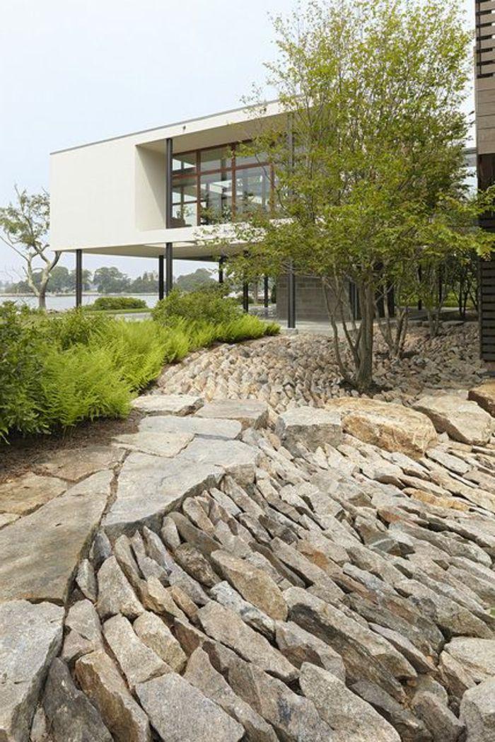 Le jardin paysager - tendance moderne de jardinage - Archzine.fr & 247 best garden   stone images on Pinterest   Garden paths Garden ...