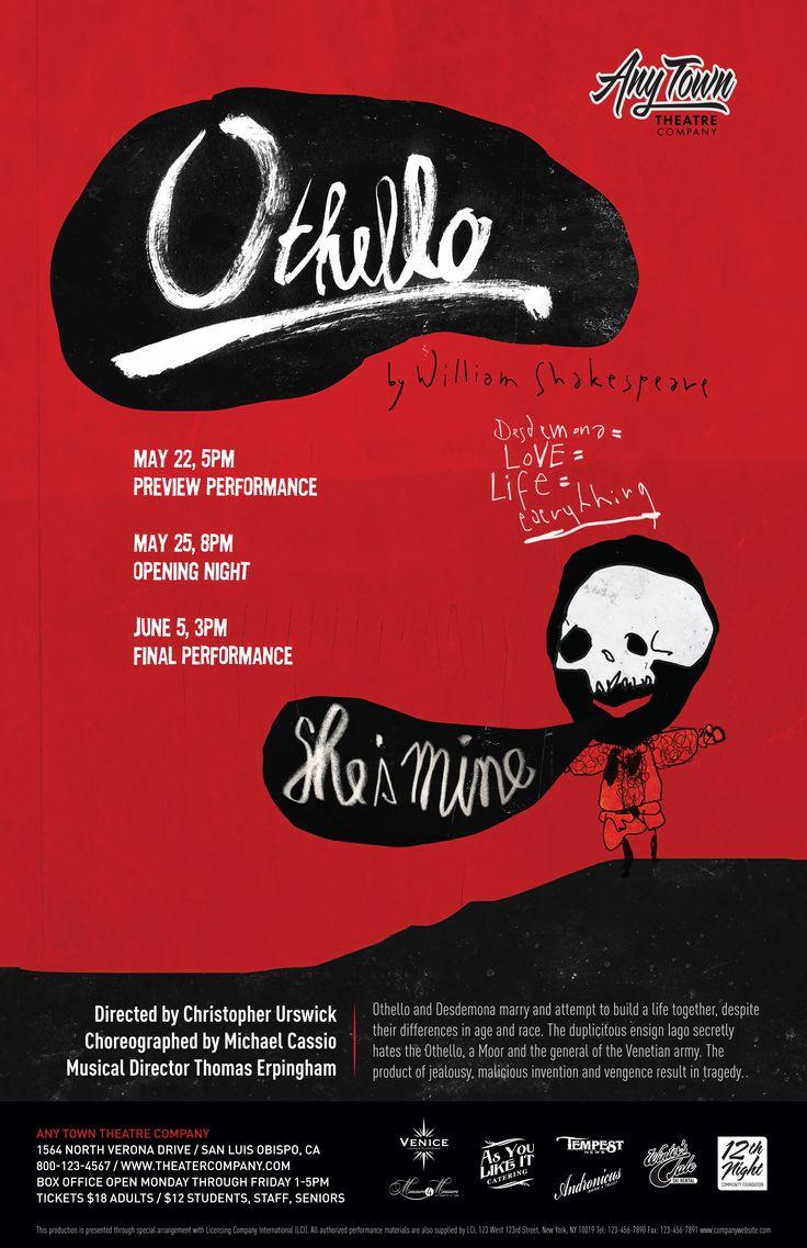 Poster design company - Subplot Studio Customizable Poster Design Othello By Hajo M Ller